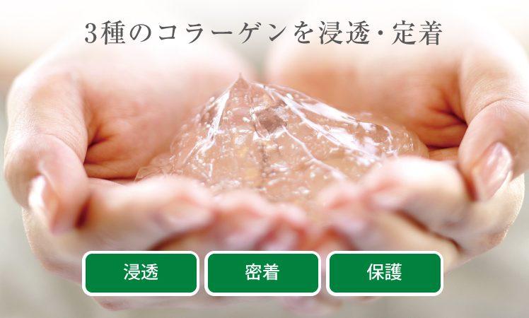 【ネイチャーディープツヤ髪エステ】3種のコラーゲンを浸透・定着するメニュートリートメント
