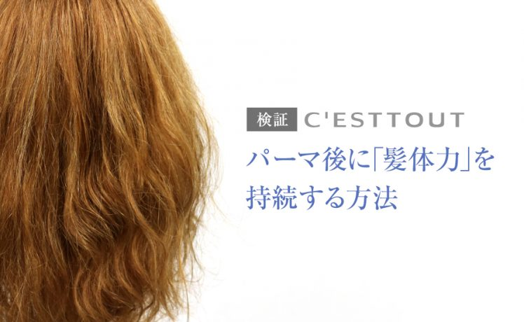 プラスサンαでパーマ後の「髪体力」を維持
