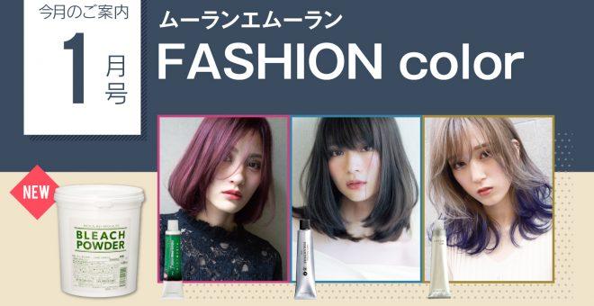 【今月のご案内1月号】注目のファッションカラー特集