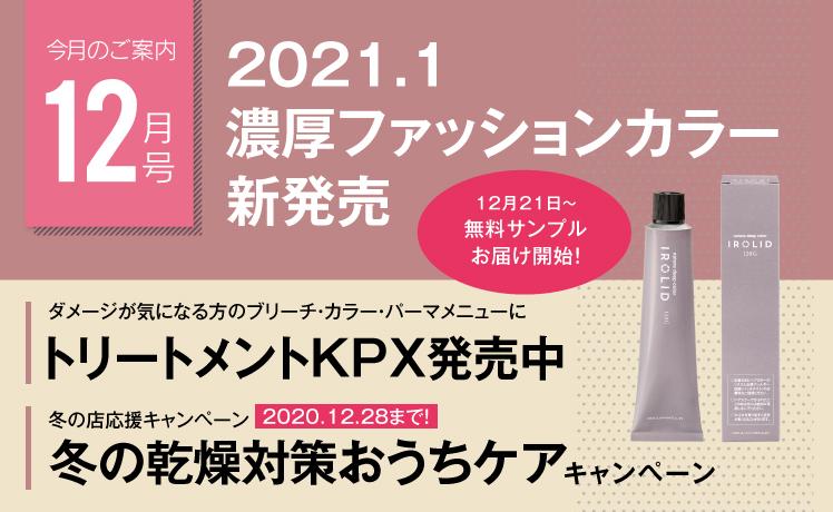 【今月のご案内12月号】2021年1月新ファッションカラー発売!12/21~無料サンプルをご注文に同梱開始!